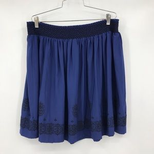 NEW Modcloth Lace & Mesh Skater Skirt  Embroidered